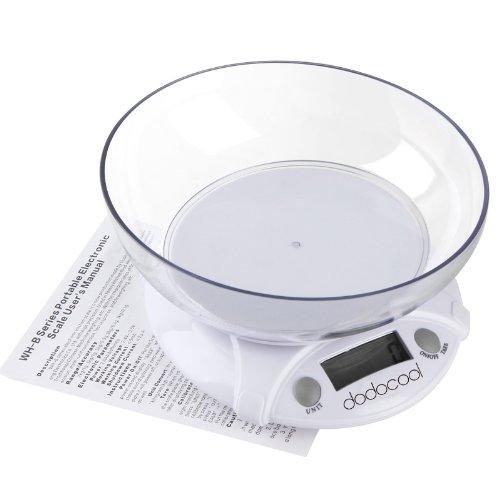 dodocool 7KG/1G numériques diététiques Balances de cuisine électroniques colis alimentaire Poids avec Bowl