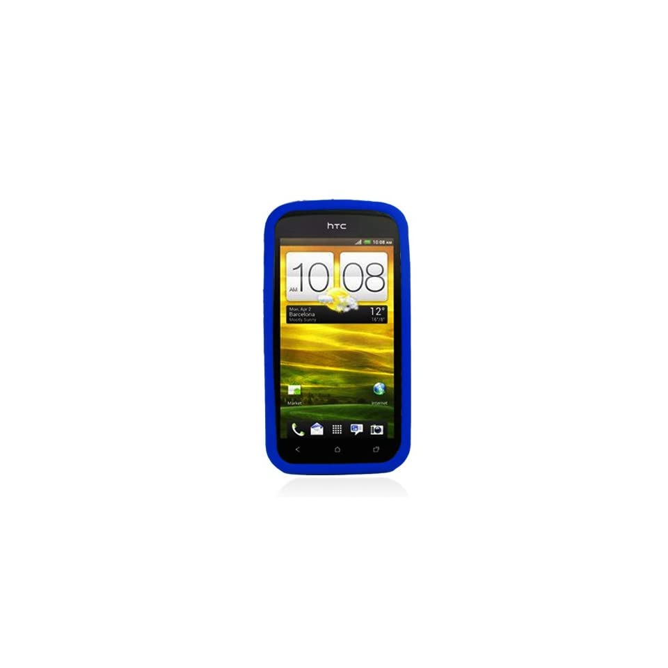 Eagle Soft Silicone Sleeve Gel Cover Skin Case for T Mobile HTC One S  Blue