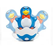 Vidatoy Wobble Penguin Amazing Plastic Roly Poly Toys For Kids Blue