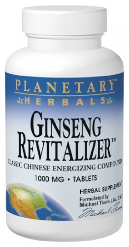 Planetary Herbals Ginseng Revitalizer, 1000 Mg, Tablets, 180 Tablets