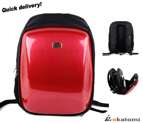 14 inch Laptop Bag Notebook Backpack for Acer Aspire 4710-2013 - Red. Hand-out Ekatomi Screen Cleaner Sticker