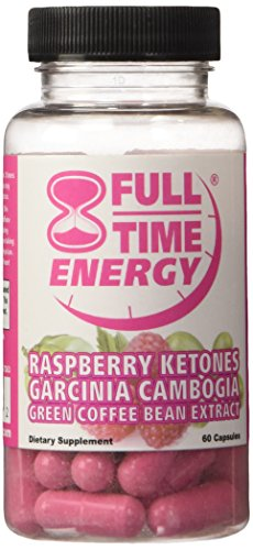 Full-Time Energy Super Pill with Raspberry Ketones Garcinia Cambogia Green Coffee Bean Extract Fat Burners - Extreme Diet Pills - The Best Weight Loss Supplements That Works Fast for Women and Men (Garcinia Full Time Energy compare prices)