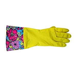 Tango Home Fresh Floral Fashion Rubber Glove