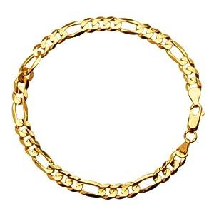 Klassics 10k Yellow Gold 6mm Figaro Men's Bracelet, 8