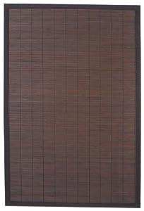 Ridder 79513380-350 Holzvorleger ca. 60 x 90 cm, 100% Bambus, Beach, dunkelbraun