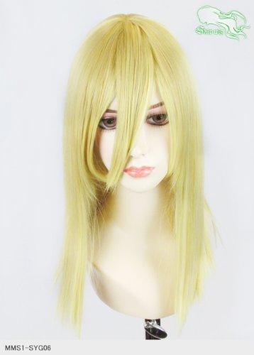 スキップウィッグ 魅せる シャープ 小顔に特化したコスプレアレンジウィッグ フェアリーミディ イエローゴールド