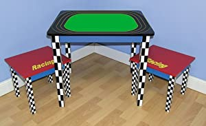Racing Race Car Child's Table & Chair Set