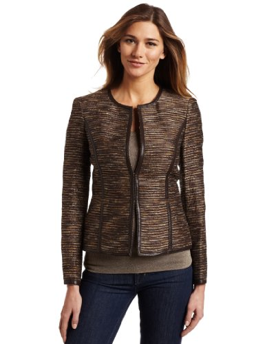 Jones New York Women's Crew Neck Jacket
