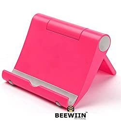 Universal Desktop Mount Stand,BEEWIIN™ Multi-Angle 270° Rotation Portable Holder For Mobile Phone,Tablets, Pad, E-readers, And Other Plane Electronic Product sevice (Pink)