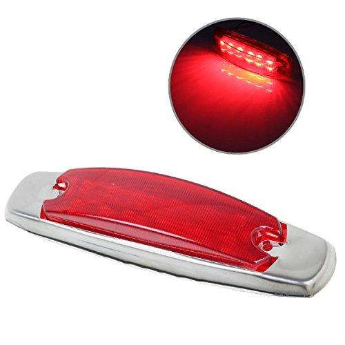 Partsam Light Clearance Side Marker Red Lens Incandescent Chrome Bezel For Peterbilt (Rims For Gmc Sierra 1500 compare prices)