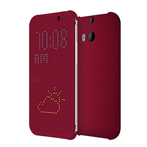 Coromose Purple Ultra Thin Dot View Flip Leather Case For Htc One M8