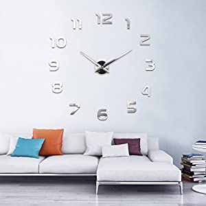 MAX3D Reloj De Pared Adhesivo Vinilo DIY Ø 130cm XXL Grande Reloj de MAX3D