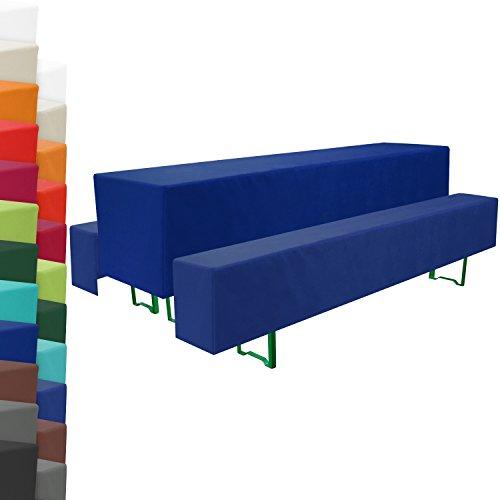 Beautissu-Basic-Bierbank-Hussen-Biertisch-Husse-3-tlg-Set-Dunkel-Blau-50cm-breite-Festzeltgarnitur-Bierzeltgarnitur