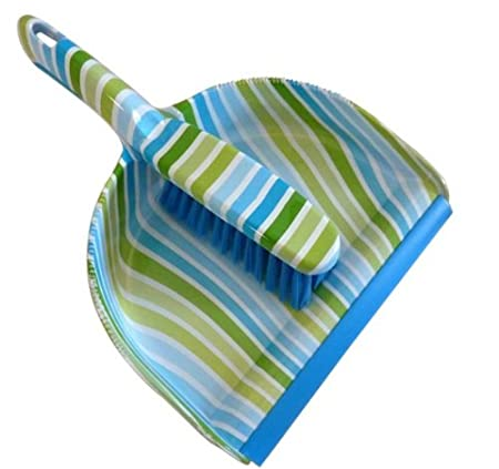 Home Basics 2-Piece Dustpan Set with Striped Print