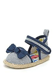 Bow Espadrille Pram Shoes