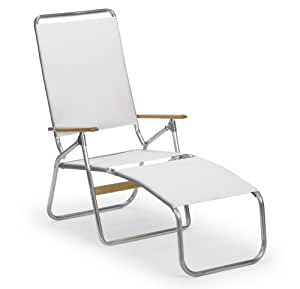 Telescope casual multi position folding beach for Adams 5 position chaise lounge white