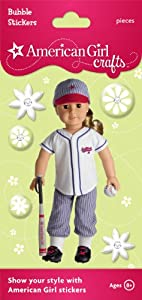 American Girl Crafts Bubble Stickers, Softball