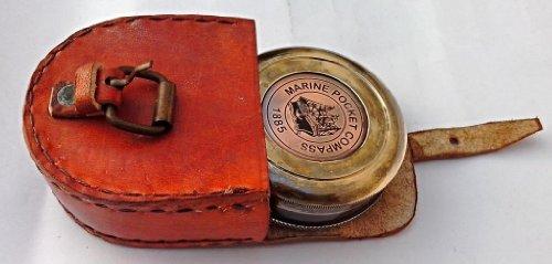 Robert Frost Brass Poem Compass. C-3122