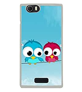 Pair of Birds on a Wire 2D Hard Polycarbonate Designer Back Case Cover for Micromax Canvas Nitro 2 E311