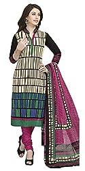 Aarvi Fashion Ethnicwear Women's Dress Material(Beige_Free Size)