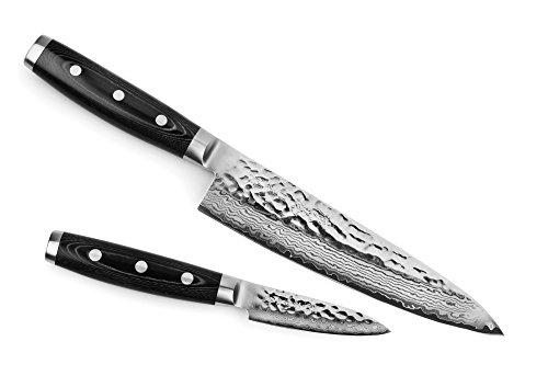 Enso HD Hamered Damascus 2-piece Starter Knife Set