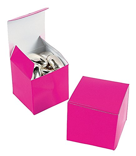 Mini Hot Pink Gift Boxes (2 dz) (Pink Gift Boxes compare prices)