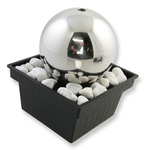 Mini Orb Indoor Table Top Stainless Steel Water Feature