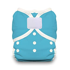 Thirsties Duo Wrap Diaper Cover with Hook and Loop, Ocean Blue, Size 2