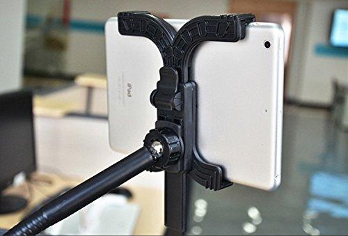 【la select】iPad フレキシブル アーム スタンド 固定式 Air mini Galaxy Nexus7 ([黒])