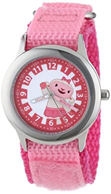 "buy Disney Kids' W000913 ""Doc Mcstuffins Time Teacher"" Stainless Steel Watch With Pink Nylon Band"
