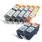 【むさしのメディアオリジナル】 キヤノン互換 BCI-321+320/5MP+BK2 5色セット+黒2個 インクカートリッジ ICチップ(残量表示機能)付き [フラストレーションフリーパッケージ(FFP)]