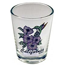 California Shotglass- Hummingbird