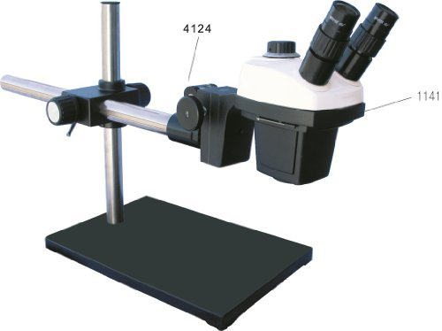 Xtz4 Stereo Zoom Binocular Microscope On Boom Stand With Universal Arm