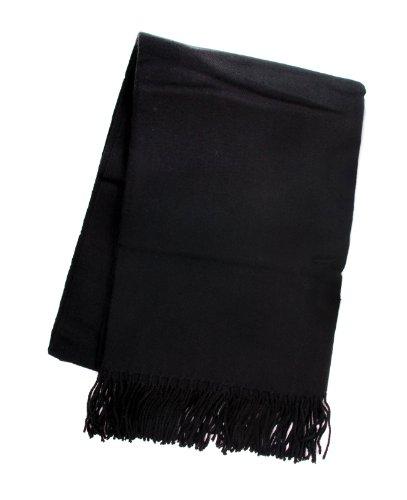 50X70 Inch Woven Throw Blanket Black