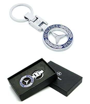 Mercedes Benz Blue Logo Quality Keychain with Box