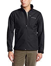 Columbia Men\'s Ascender Softshell Jacket, Black, Medium