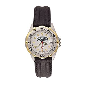 San Antonio Spurs NBA All Star Ladies Leather Strap Watch by NBA Officially Licensed