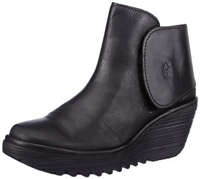 Fly London Yogi Mousse Leather, Women's Boots, Black, 2.5 UK
