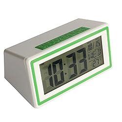 Mikey Store LED Electronic Desktop Digital Alarm Clock Large Display (Green)