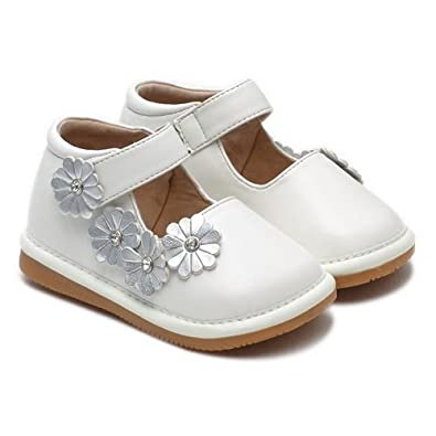 """LBL Infant Squeaky Shoes """"Emma"""" (24, White)"""