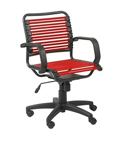 Euro Style Bungie Flat Mid Back Office, Red