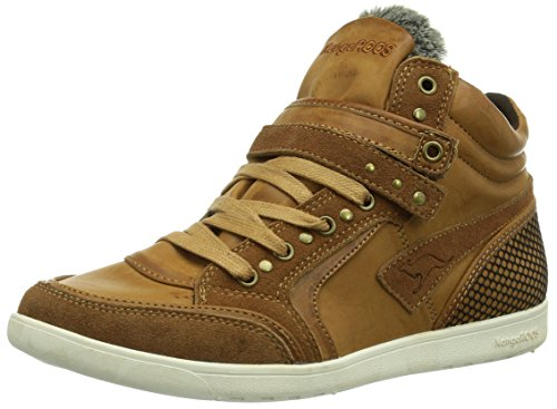 KangaROOS K-Basket 5005, Sneaker Donna, Marrone (Braun (Marron (Nutbrown 350))), 38