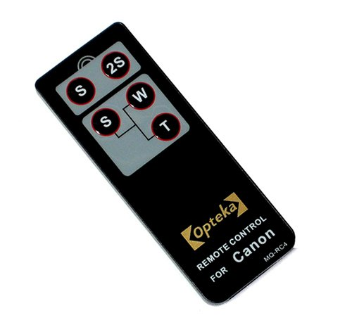 Opteka RC-4 Wireless Remote Control for Canon EOS Digital Rebel XT, XTi, XSi, T1i, T2i, 60D, 7D & 5D Mark II Digital SLR Cameras
