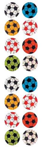 Jillson Roberts Prismatic Stickers, Mini Soccer Balls, 12-Sheet Count (S7136)