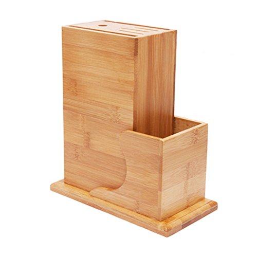 Soriace®Blocs Couteaux Vides, Bambou Bloc de Couteaux - 5 pièces