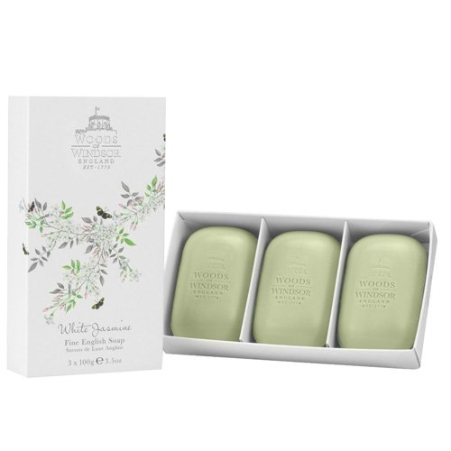Woods of Windsor White Jasmine Fine English Soap 100g Pack of 3 (Woods Of Windsor White Jasmine compare prices)