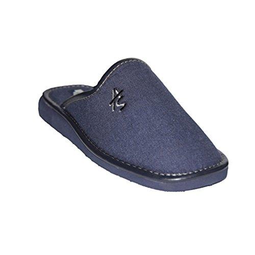 Cavaliere pantofole punta chiusa Andinas blu navy taille 47