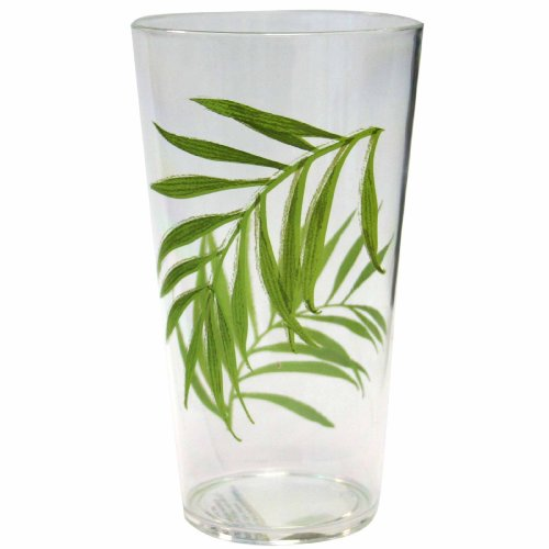 Corelle Coordinates Bamboo Leaf 19-Ounce Acrylic Glass, Set of 6