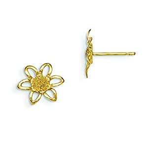 14k Madi K D/C Children's Flower Post Earrings