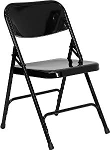 Hercules Series Folding Chair Finish: Black